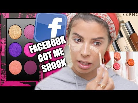 A FULL FACE OF MAKEUP FROM FACEBOOK ADS