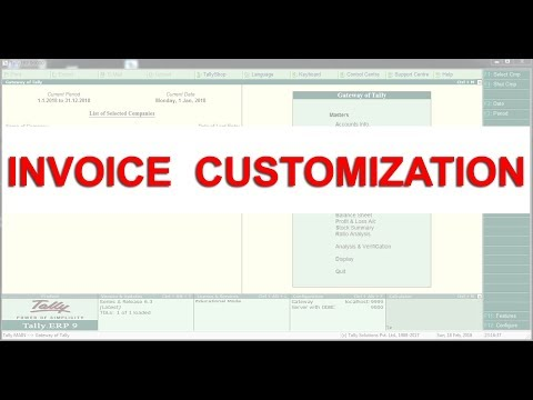 Tally ERP 9 Default  Arabic and English Invoice Modification Through Customization