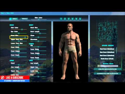 Ark Survival Evolved Character CREATION and CUSTOMIZATION Xbox One Edition Gameplay