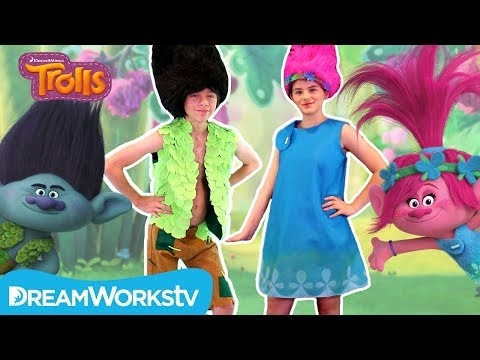 DIY Trolls Poppy and Branch Costume with KittiesMama | TROLLS