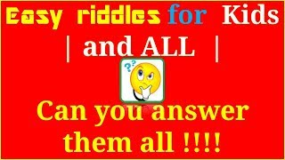 Easy Riddles With Answers