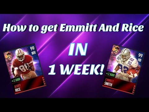 Madden Mobile:How to get Emmitt Smith and Jerry Rice in 1 WEEK!