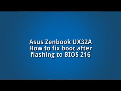 Asus Zenbook UX32A boot fix