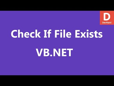 VB.Net Check If File Exists