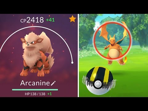 Pokemon GO   CATCHING WILD CHARIZARD! & Best Fire Evolutions - Arcanine & Ninetails! Charizard OP!!