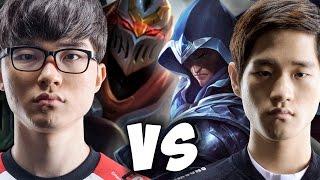 Faker Zed vs Crown Talon & Bang Kalista - SKT T1 Faker Playing Zed Midlane In Challenger Korea