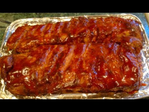 #647 - BBQ RIBS  in Roaster Oven / Vlogmas day 14