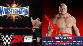 WWE 2K18: What Happens When The Royal Rumble Winner Gets Injured Before Wrestlemania?