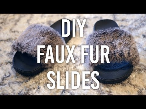 How to Make - Faux Fur House Slippers