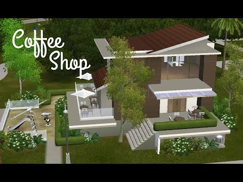 Sims 3 Community Lot Building - Coffee Shop
