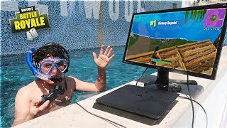 This 15 Year Old Kid Won A Game Of Fortnite Underwater In a Pool