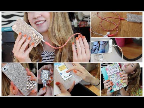 DIY: IPhone Accessories! Easy & Cute!