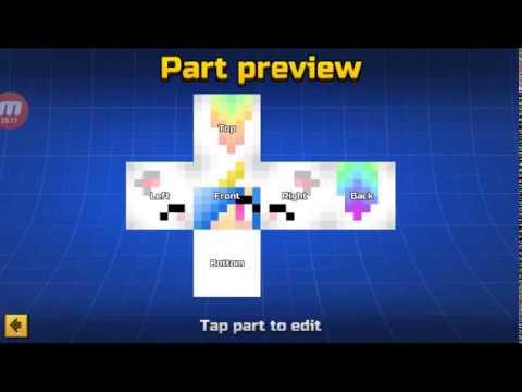 Pixel Guns 3d Cute Unicorn Girl Skin
