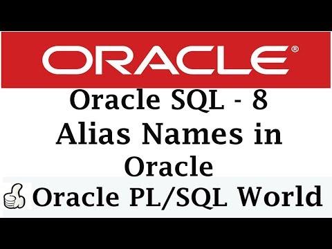 Alias Names  In Oracle   Oracle Tutorials for Beginners