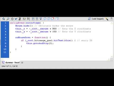 [TUTORIAL] How to make a FPS game in Adobe Flash CS5.5 - Part 5: Adding More Enemies