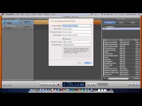 GarageBand playlist tutorial