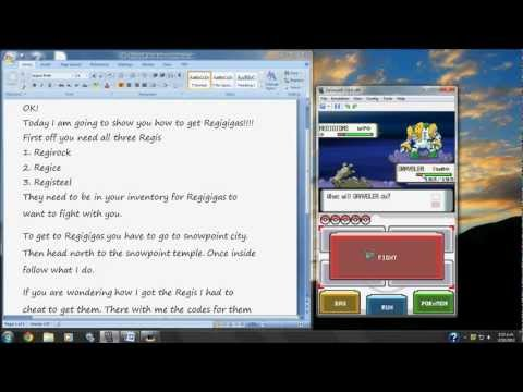 Where and how to get Regigigas in Pokemon Diamond
