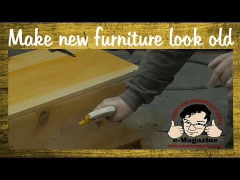 FINISHING TECHNIQUE: Aging/Distressing Furniture- Make new wood look old!