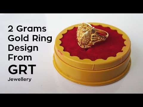 2 Grams Gold Ring Design Hands on   Price   From GRT Jewellery