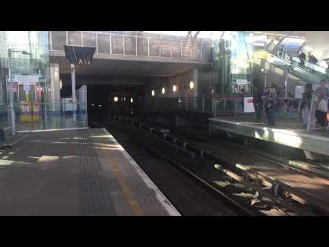 London Docklands Light Railway 85 & 24 at Stratford Low-Level for Woolwich Arsenal via LCA