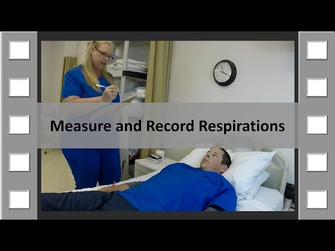 Measure and Record Respirations CNA Skill NEW
