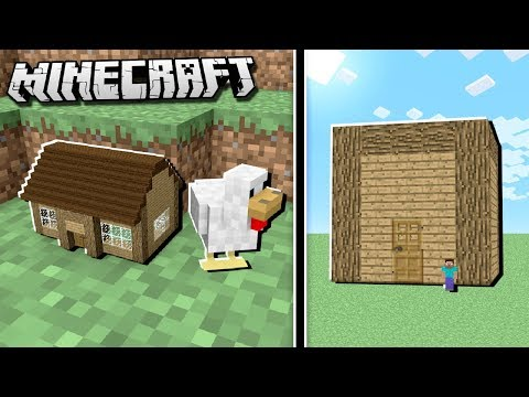 SMALLEST HOUSE vs. LARGEST HOUSE IN THE WORLD in Minecraft!