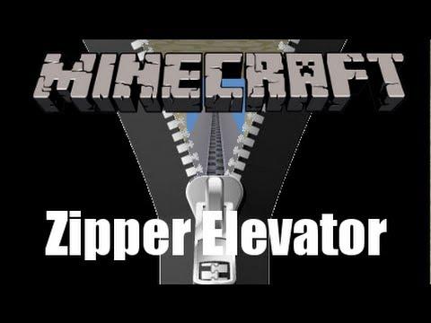 Minecraft 1.6+ Zipper Elevator Tutorial
