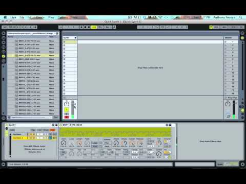 Ableton Video Tutorial--How To Beef Up Your Synths with More Oscillators