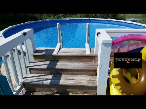 Step Deck Platform For Saltwater 8000 -  21 Ft x 54 Inch tall  Above Ground Pool With KVUSMC