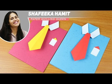 Art and Craft How to make Shirt Greeting Cards - Father's day cards - Teacher's day cards - DIY