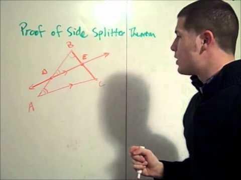 Proof of Side Splitter Theorem