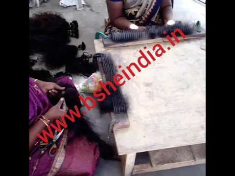 Raw Indian human hair extensions wholesale - Human hair factory Índia - Indian Temple hair supplier