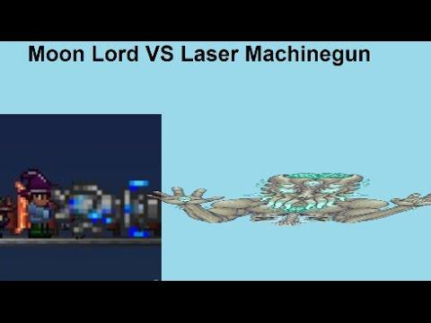 Terraria|Moon Lord VS Laser Machinegun