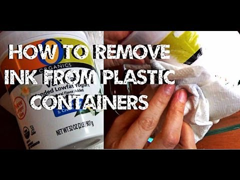 DIY Solutions ♥ How to Remove Ink From Plastic Containers