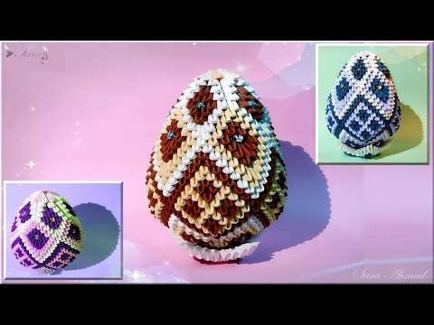 How to make 3d origami Easter egg 3