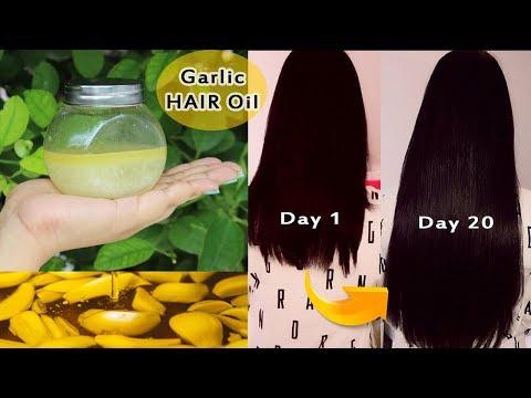 GARLIC HAIR OIL ||  Secret Recipe for Double Hair Growth get Long hair and Stop hair-fall ||