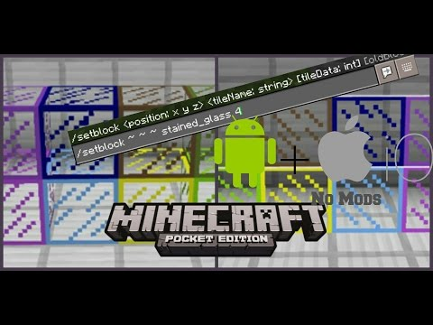 Minecraft PE: How to get STAINED GLASS!! | Android/IOS 1.0.0!!!!! | Secret Trick!!