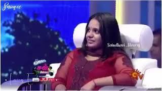 GV Prakash and Saindhavi funny love moment in Super Singer