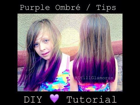 Purple Ombre/Tips ♡ DIY Tutorial