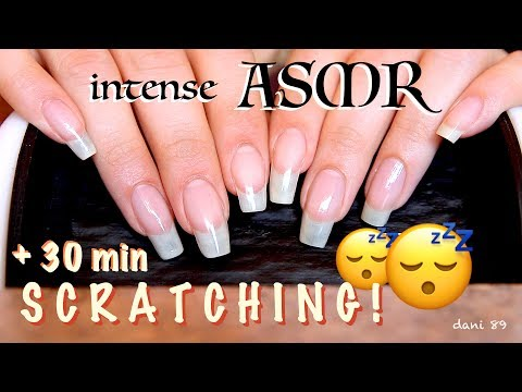 INTENSE ear-to-ear ASMR: + 30 minutes of SCRATCHING 😴 (+5min of TAPPING) 🎧 With my natural nails❣️