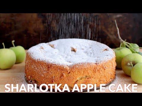 Simple Russian Apple Cake - Sharlotka Recipe