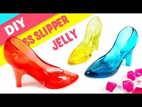 DIY Crystal Glass Slipper Jelly ! Glass Shoes Gummy | MonsterKids