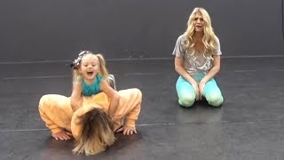 HILARIOUS DANCE CLASS WITH 4 YEAR OLD TEACHER!!! (AT DANCE STUDIO)