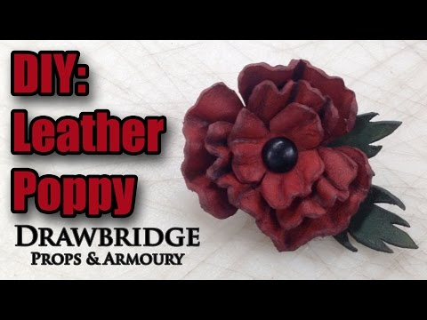 DIY: Make a Leather Poppy - How to make Leather Flowers