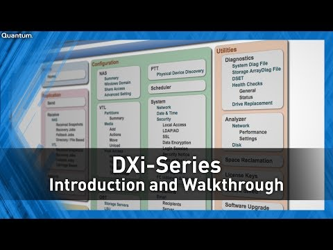 DXi-Series Introduction and Walkthrough