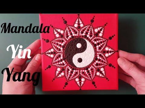 Como pintar mandalas con acrílicos #11 - Yin Yang