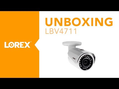 Unboxing the LBV4711 MPX Bullet Security Camera