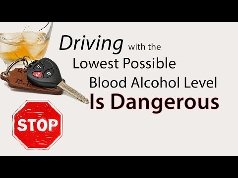Driving with the Lowest Possible Blood Alcohol Level is Dangerous