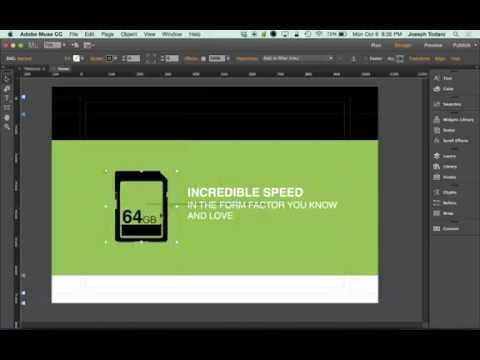 Adobe Muse CC 2014.2 Tutorial | SVG Scalable Vector Graphics