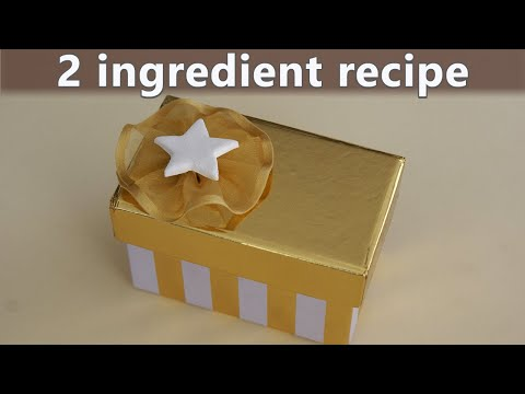 modeling clay recipe | 2 ingredients